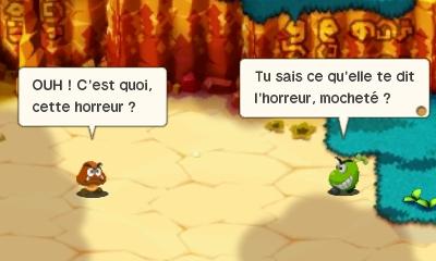 Mario & Luigi : Superstar Saga + Les sbires de Bowser goomba balançant des insultes