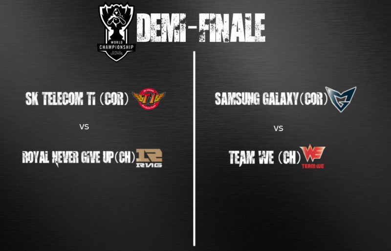 Coupe du monde League of Legends - Demi-finale