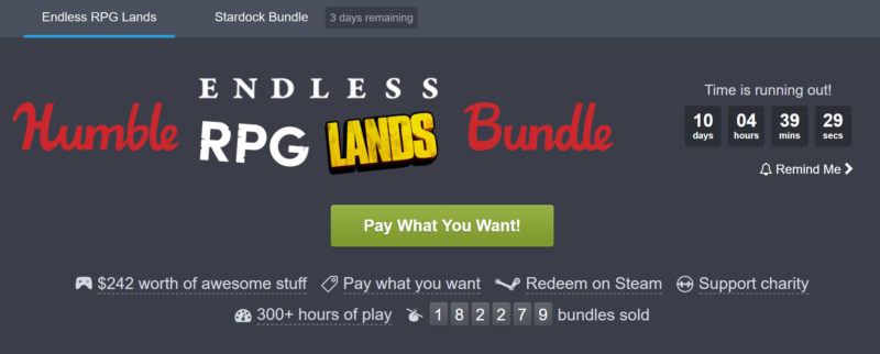 Humble Bundle Endless RPG bundle