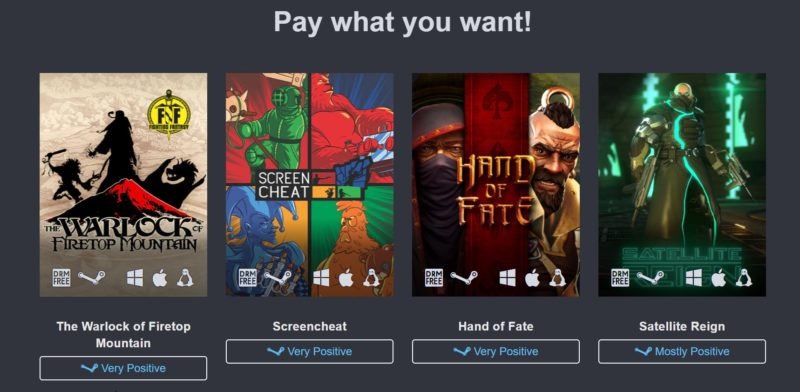 humble down under bundle screancheat hand of fate reign warlock on the firetop mountain