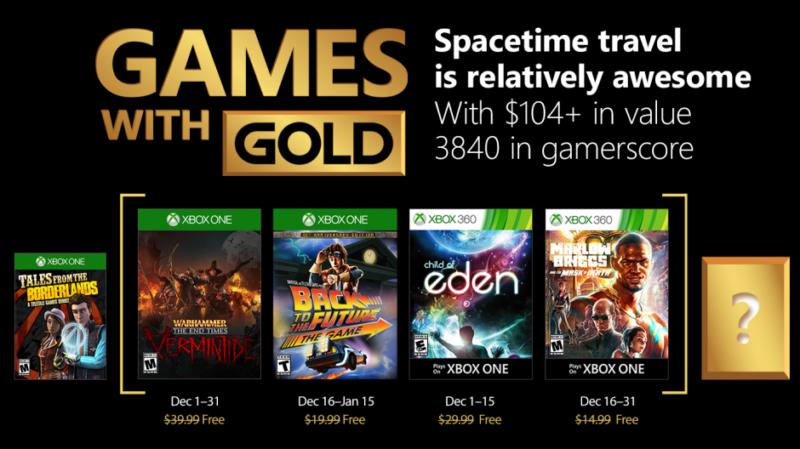 Games with Gold décembre 2017