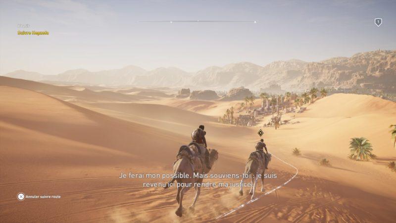 Assassin's Creed Origins - traversée du désert