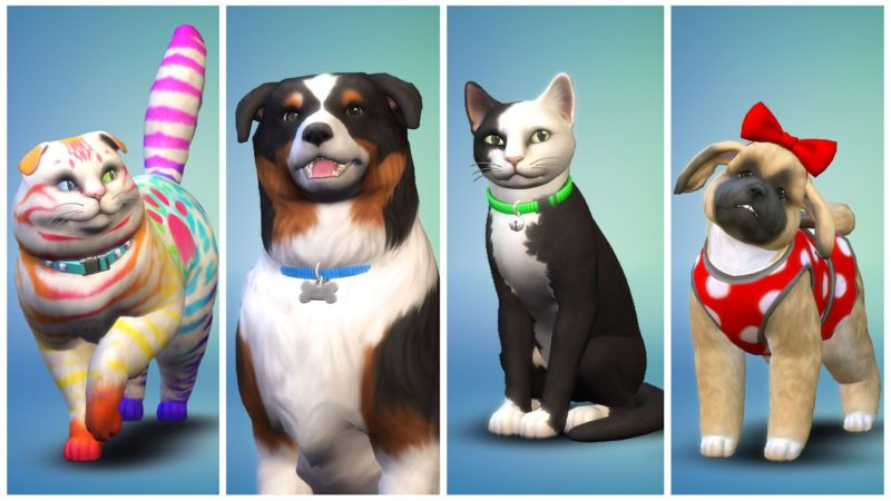 Les Sims 4 CHiens et Chats couleurs