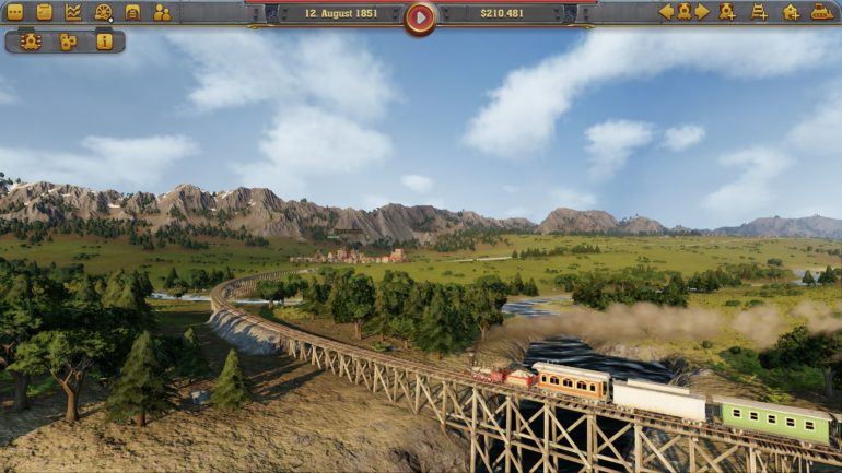 Railway Empire pont et train