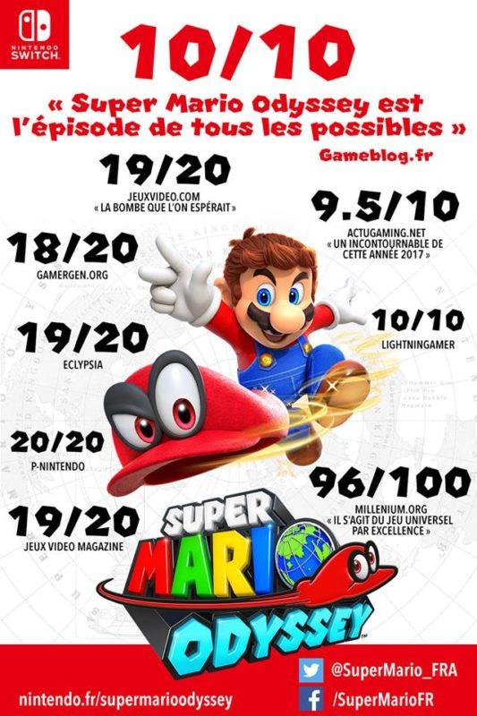Super Mario Odyssey affiche Nintendo