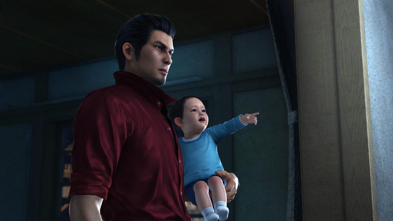 Yakuza 6: The Song of LifeKiryu fait du babysitting