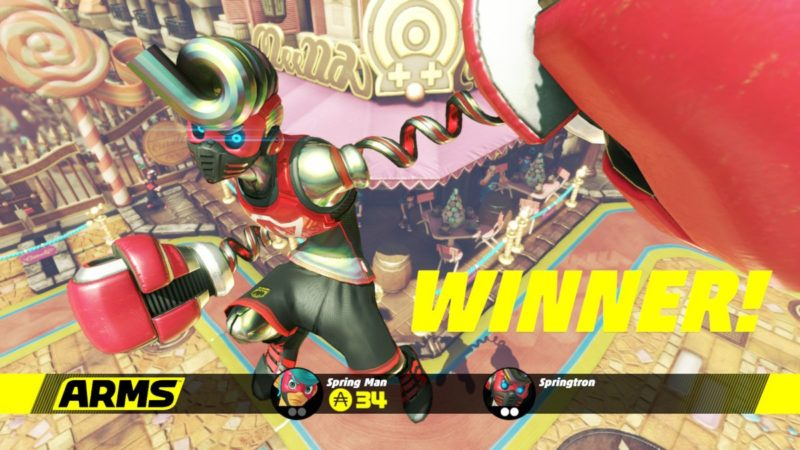 Arms Springtron victory