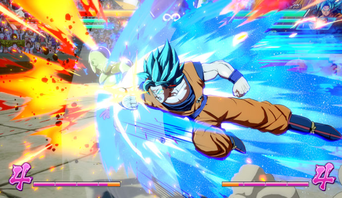 Dragon Ball FighterZ Sangoku en combat