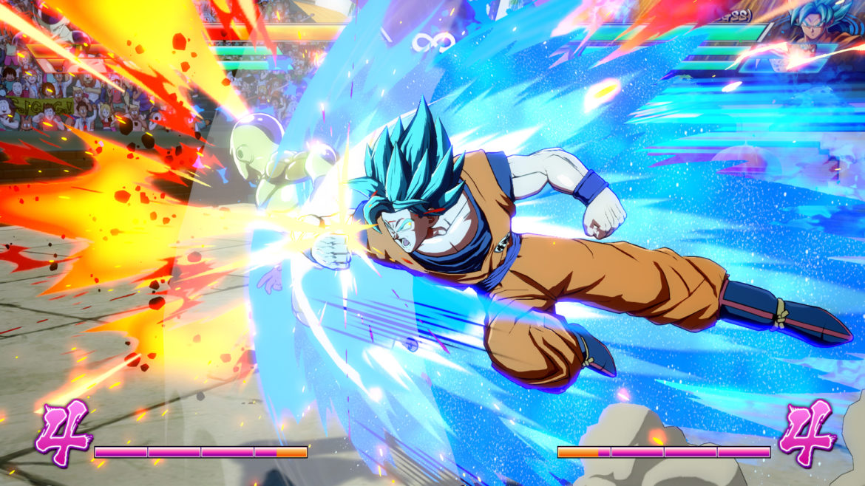 Dragon Ball FighterZ Sangoku en combat