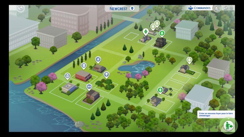 Les Sims 4 quartier