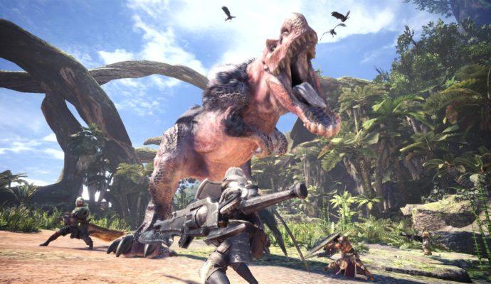 Monster Hunter World grand méchant dinosaure