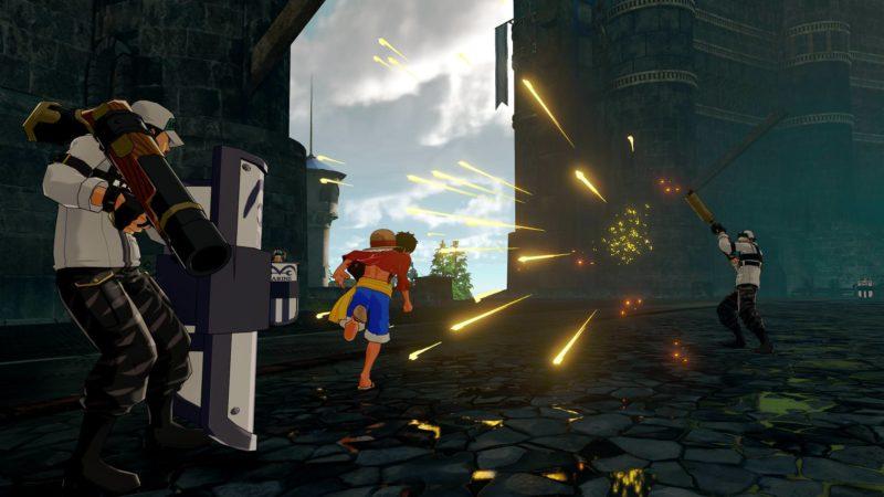 One Piece: World Seeker Luffy vs marines