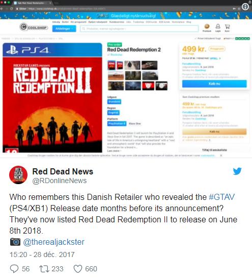 Red Dead Redemption 2 leak screen