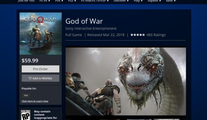 God of War 4 l'horreur est humaine