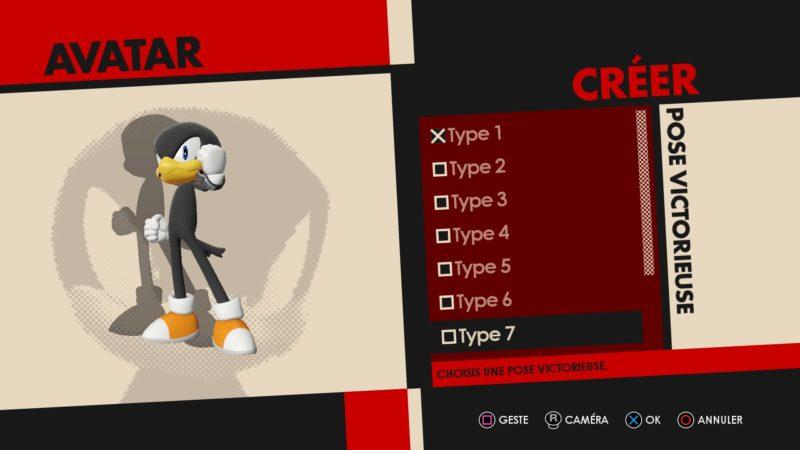 Sonic Forces - Création de l'avatar