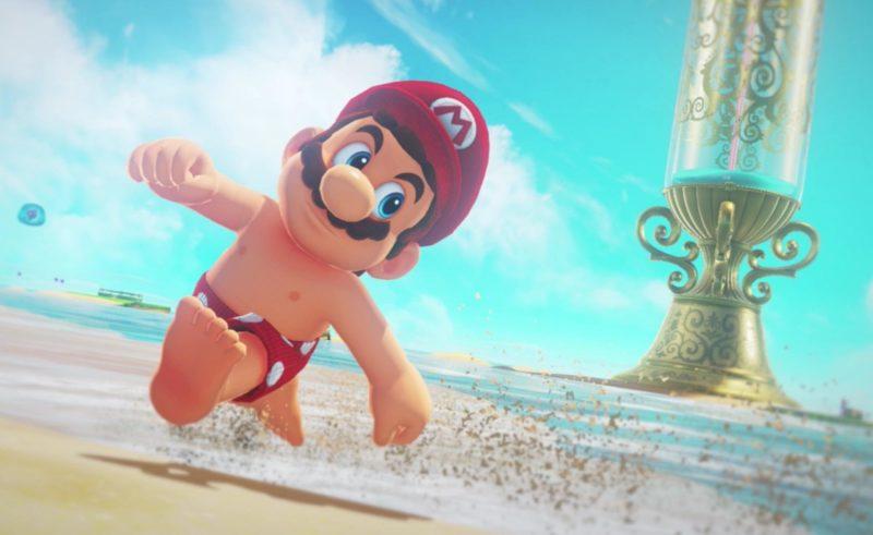 Super Mario Odyssey sur la plage