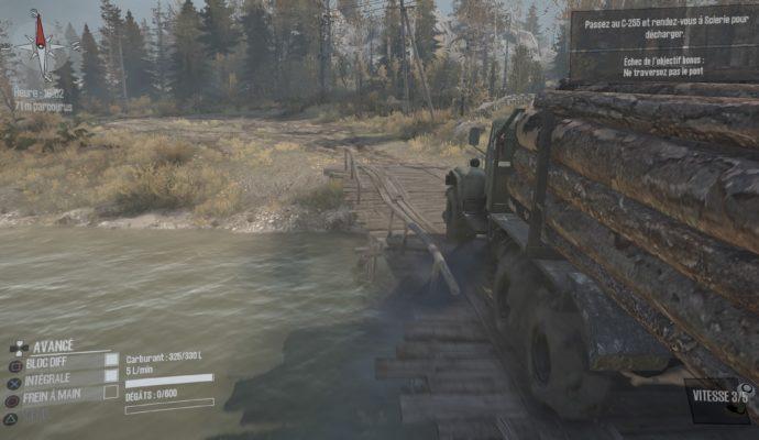Test Spintires: MudRunner - Traversé d'un pont