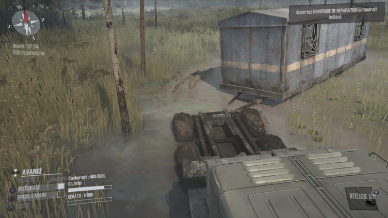 Test Spintires: MudRunner - Remorquage