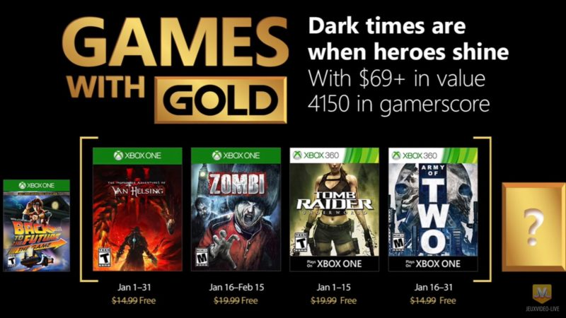 Games with Gold janvier 2018