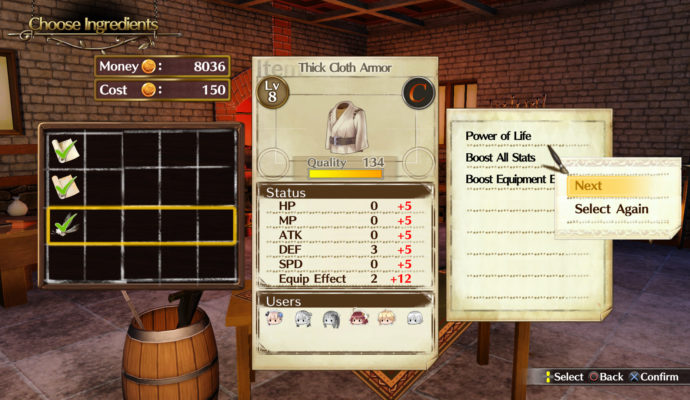 Atelier Lydie & Suelle: The Alchemists and the Mysterious Paintings amélioration armure