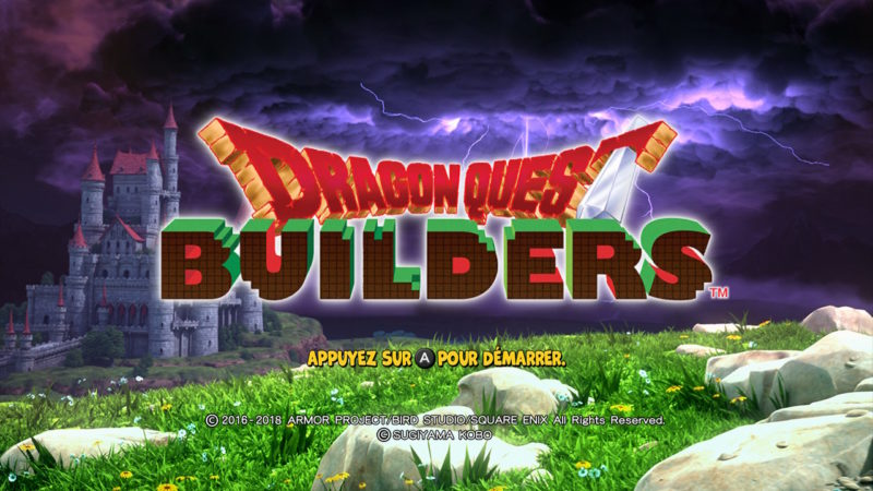 Dragon Quest Builders -Title Screen