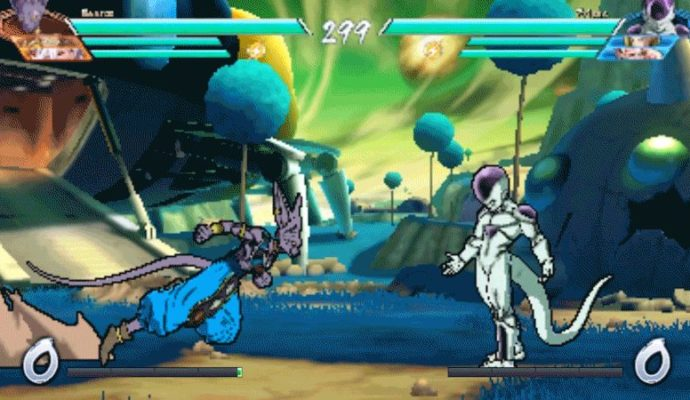 Dragon Ball FighterZ - low def Beerus Freeza