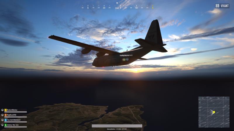 PlayerUnknown's Battlegrounds avion