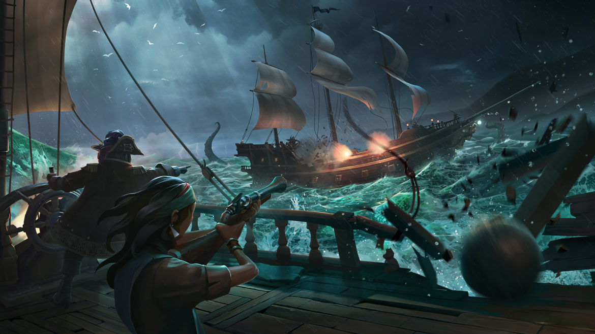 Sea of Thieves bataille navale