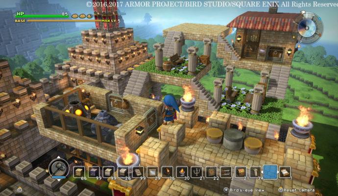 Dragon Quest Builders - Vu sur le village