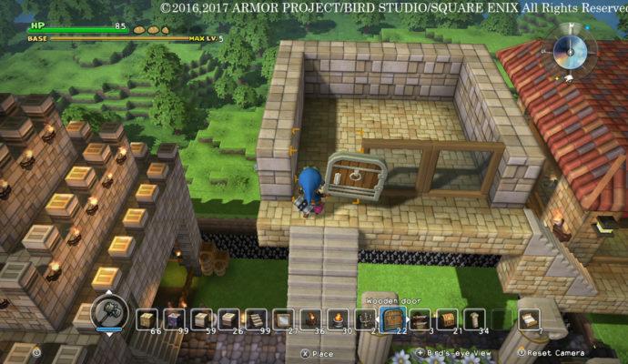 Dragon Quest Builders - Ecran de création