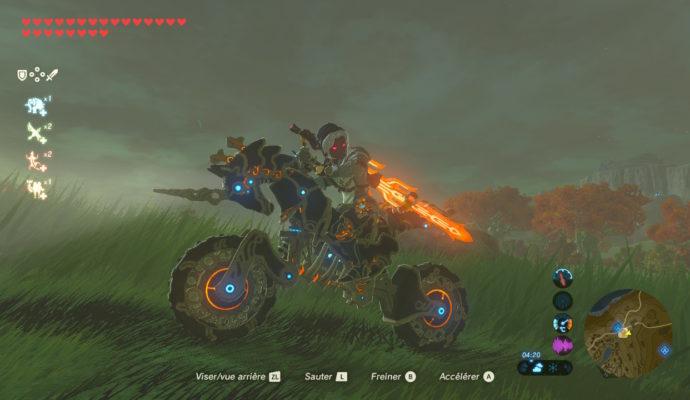 The Legend of Zelda: Breath of The Wild – DLC#2 : L'Ode aux Prodiges Link sur son destrier de légende
