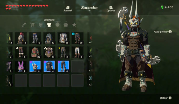 The Legend of Zelda: Breath of The Wild – DLC#2 : L'Ode aux Prodiges tenue du mal