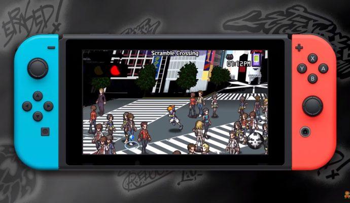 The World Ends With You: Final Remix - Shibuya jogging présenté sur la Switch en mode portable