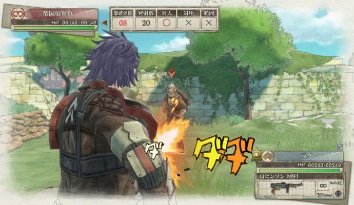 Valkyria Chronicles 4 combat