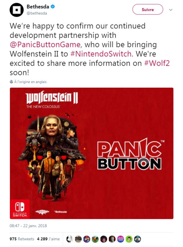 Wolfenstein II: the New Colossus - Panic Button