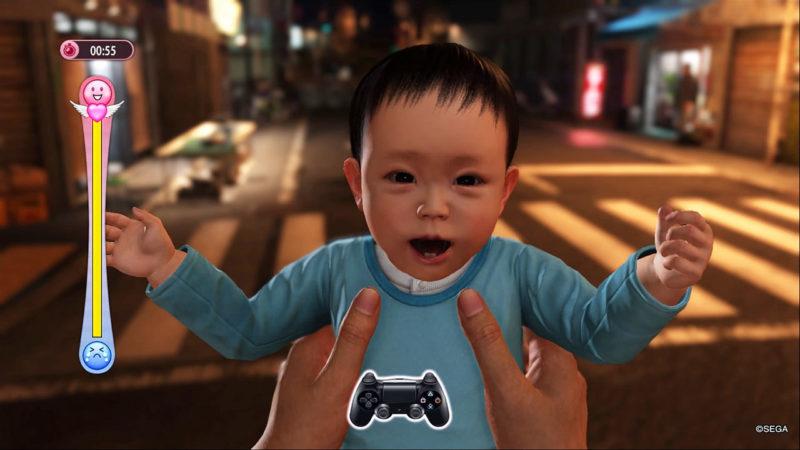 Yakuza 6: The Song of Life babysitting