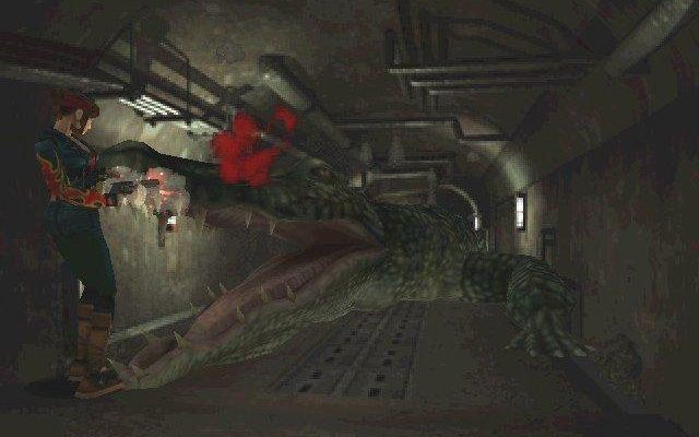 Resident Evil 2 Remake crocodile