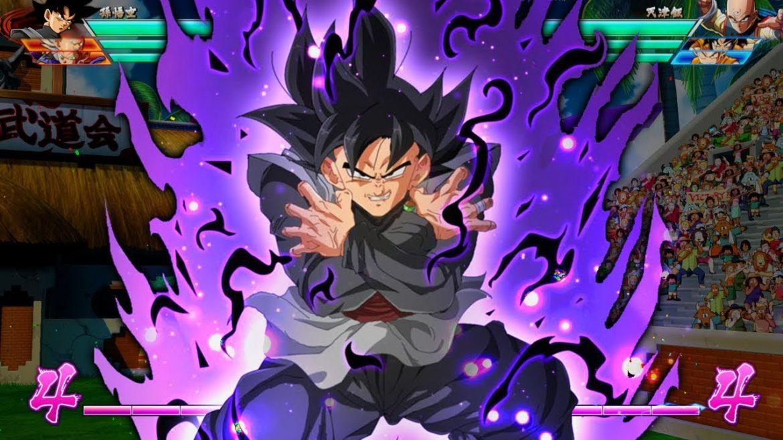 dragon ball fighterZ Goku black est d'équerre