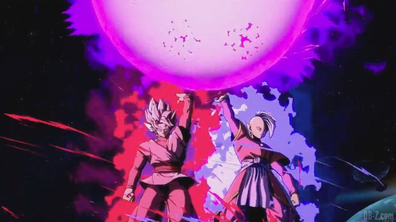 dragon ball fighterZ Goku black et Zamasu perdent la boule