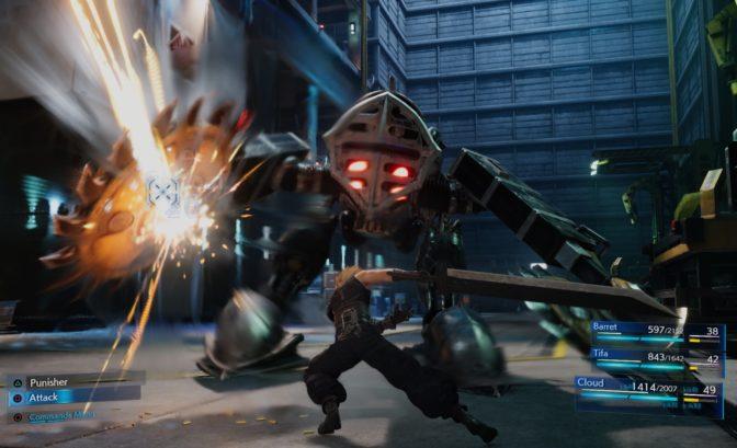 final fantasy VII remake combat