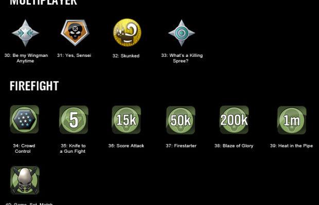 Halo liste de succès sur Xbox
