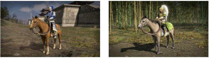 Les différents chevaux dans Dynasty Warriors 9