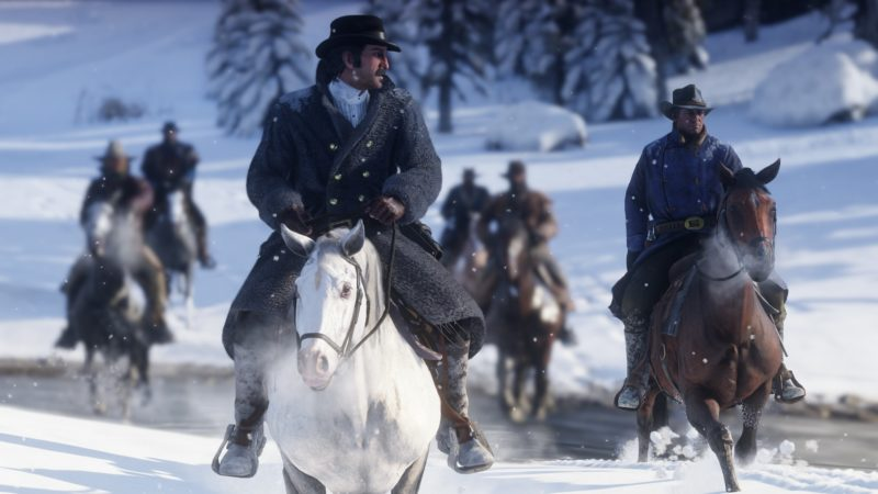 Red Dead Redemption 2 neige