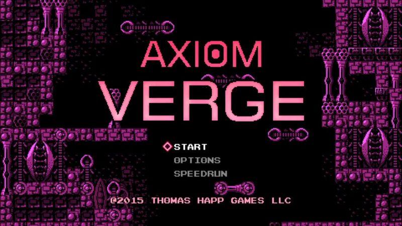 Axiom Verge - Title Screen