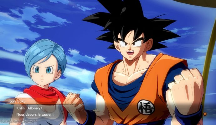 Dragon Ball FighterZ Goku et Bulma