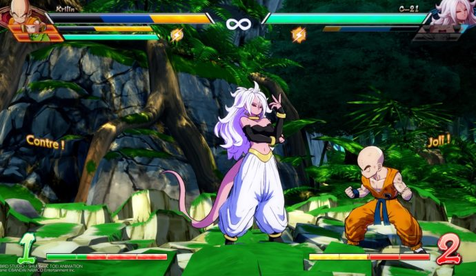 Dragon Ball FighterZ Krilin vs C21
