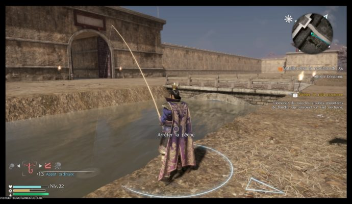 Dynasty Warriors 9 pêche