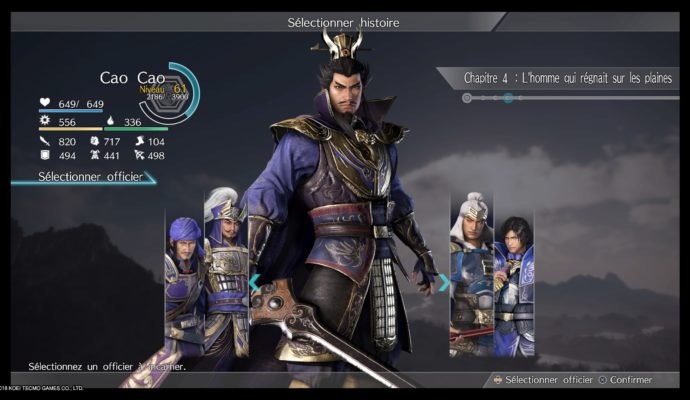 Dynasty Warriors 9 choix perso