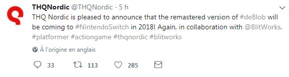 De Blob - tweet
