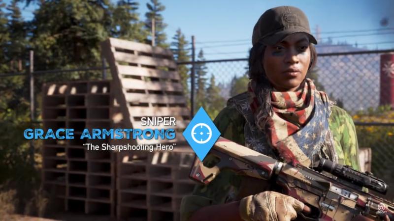 Far Cry 5 Grace Armstrong, œil de lynx